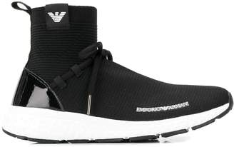 Emporio Armani sock-liner sneakers