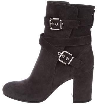 Gianvito Rossi Suede Ankle Strap Booties