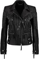 Roberto Cavalli Studded leather jacket