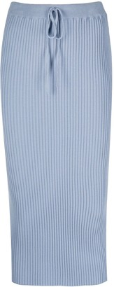 Marques Almeida Ribbed-Knit Fitted Skirt