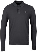 Cp Company Charcoal Grey Long Sleeve Regular Fit Polo Shirt