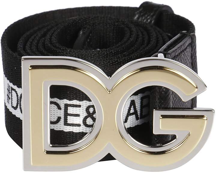 Dolce & Gabbana Logo Band Buckle Belt