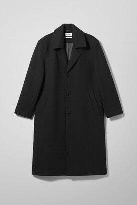 Weekday Austin Oversized Coat - Black