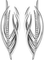 Shaun Leane White Feather silver and diamond earrings