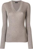 Joseph V-neck ribbed jumper - women - Silk/Cashmere/Mercerized Wool - M