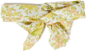 Zimmermann Twisted Floral-print Cotton Headscarf