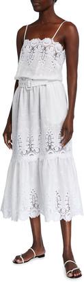 Miguelina Esme Dragonfly Roselle Linen Dress