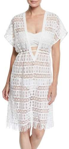 c447ae0ffb Crochet White Swimsuit Cover Up - ShopStyle