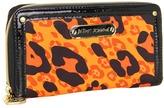 Betsey Johnson Cheetah Boom Boom Zip Around (Orange) - Bags and Luggage
