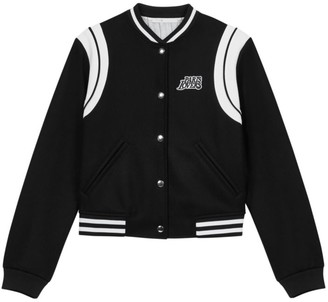 Maje Berry Paris Lovers Varsity Jacket