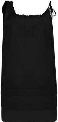 Araks Taline sheer shift mini dress