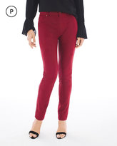 Chico's Faux-Suede Knit Pants in Deep Red