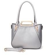 Mkf Collection By Mia K. MKF Collection by Mia K. Women's Handbags - Silver Veronica Satchel & Clutch Set