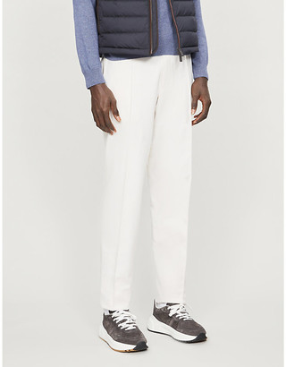 Ermenegildo Zegna Tapered slim-fit cotton trousers