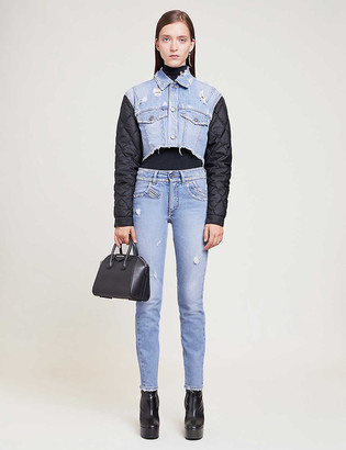 Givenchy Quilted shell-panelled denim jacket