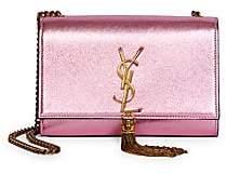 Saint Laurent Women's Small Kate Tassel Metallic Leather Shoulder Bag