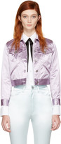 Marc Jacobs Purple Classic Satin Jacket