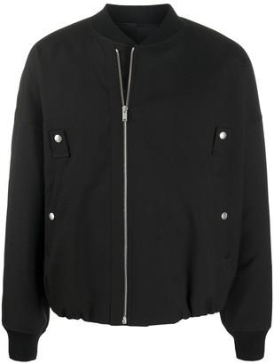 Jil Sander Floral-Embroidered Bomber Jacket