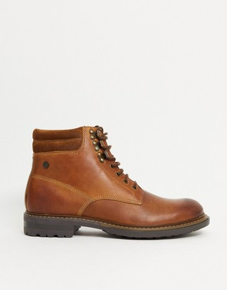 Base London liberty lace-up boots in tan leather