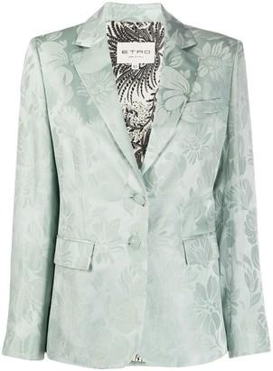 Etro Floral Single Breasted Blazer
