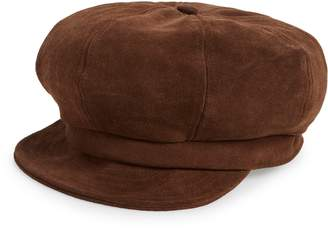 Brixton Montreal Unstructured Leather Driving Cap