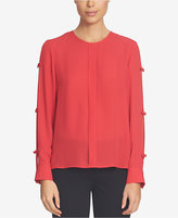 CeCe Split-Sleeve Bow Blouse