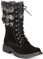 Wanted Pilsner Lace-Up Faux-Fur Booties