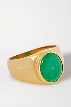 Loren Stewart Net Sustain Gold Vermeil Jade Ring