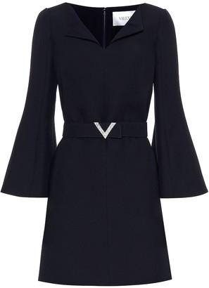 Valentino Wool and silk crApe minidress