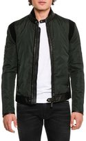 Dolce & Gabbana Leather-Trim Nylon Jacket, Dark Green