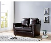"""Thumbnail for your product : Winston Porter Flossmoor 52.25"""" Faux Leather Flared Arm Loveseat"""