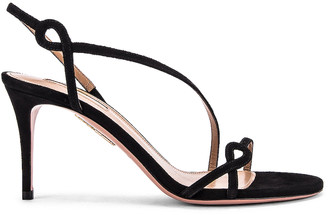 Aquazzura Serpentine 75 Sandal in Black | FWRD