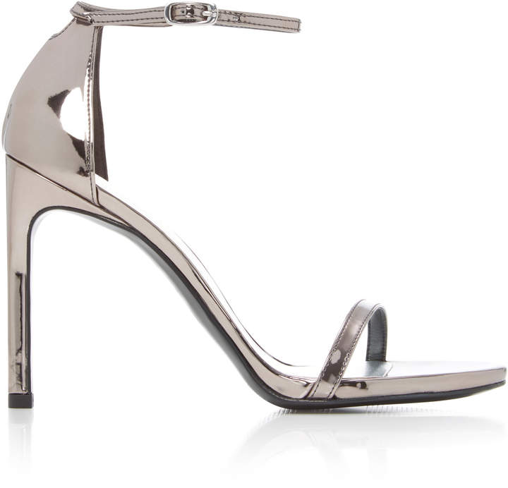Stuart Weitzman Nudist Metallic Leather Sandals
