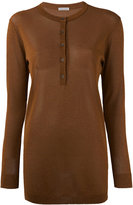 Tomas Maier long-sleeved top - women - Polyester/Viscose - 6