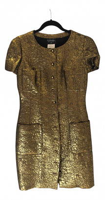 Chanel Gold Cotton Dresses