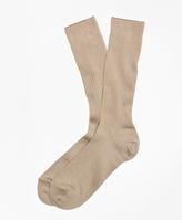 Brooks Brothers Ribbed Supima® Cotton Crew Socks
