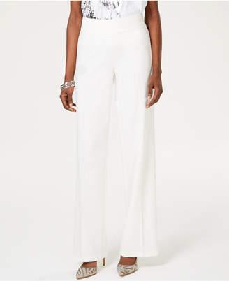 INC International Concepts Inc Wide-Leg Crepe Side Zip High Waist Pants