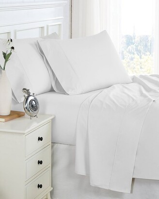 South Shore Furniture Southshore Fine Linens 200Tc White Percale Extra Deep Pocket Sheet Set