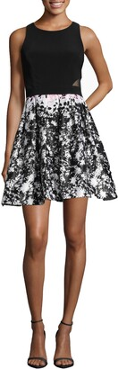Xscape Evenings Print Skirt Party Dress