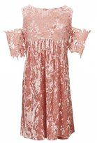 Xtraordinary Big Girls 7-16 Crushed Velvet Cold-Shoulder Dress