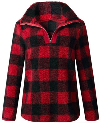 Goodnight Macaroon 'Aniya' Checkered Fleece Pullover (3 Colors)