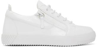 Giuseppe Zanotti White Patent July Cantadora Sneakers