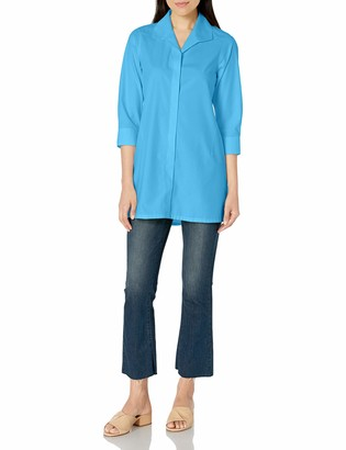 Foxcroft Women's 3/4 Sleeve Skye Essential Non Iron Tunic