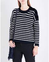 Maje Market striped knitted jumper