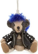 Burberry Punk Thomas Bear check cashmere keyring