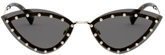 Valentino Embellished Cat Eye Sunglasses