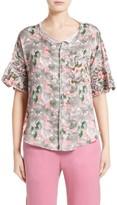 Julien David Women's Print Silk Twill Shirt