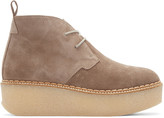 Flamingos Taupe Suede Polk Ankle Boots