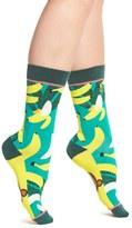 Women's Woven Pear Monkey Business Crew Socks
