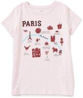 Kate Spade Big Girls 7-14 Short Sleeve Paris Tee